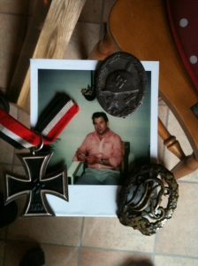 His medals which he gave me to me before he died. I went to Germany to see him for the last time and he took me to the place they were hidden so I knew where they were after he died. He knew how much I loved him and how proud of him I was, even if he was on the wrong side.