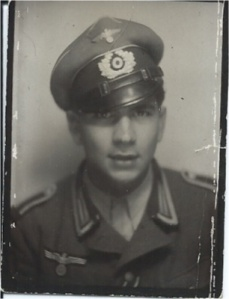 Wilfried Conrads in his uniform looking proud and handsome, just about to go to the Russia Front